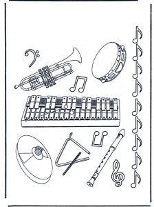 Orchestrina 2 Da Colorare Strumenti Musicali Musical Strumenti A Fiato