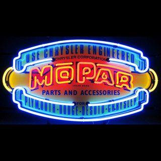 Mopar Parts and Accessories Neon Sign - Silkscreen Backing