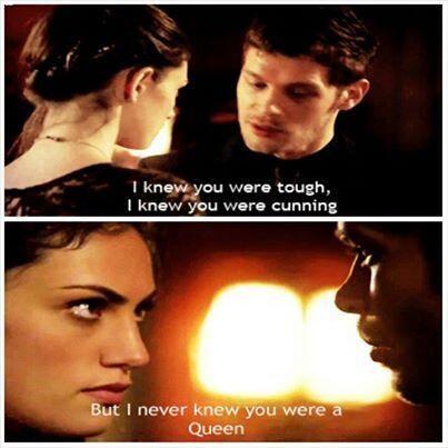 Klaus sabe mesmo o que dizer...se Hayley é rainha...quem será o Rei?