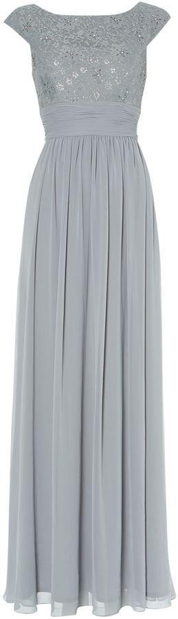 Eliza J Bridesmaid Lace Top Chiffon Maxi Gown on shopstyle.co.uk