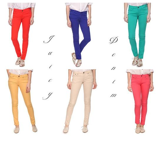fun colored denim for spring!