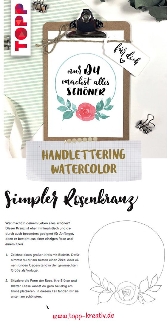 Handlettering Watercolor Libri