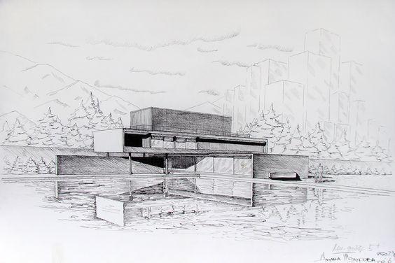 Marcio Kogan / House six (ink)