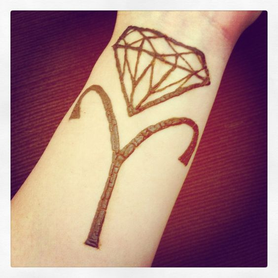 Henna Tattoo Zodiac Signs : Diamond and aries zodiac symbol henna tattoo tattoos