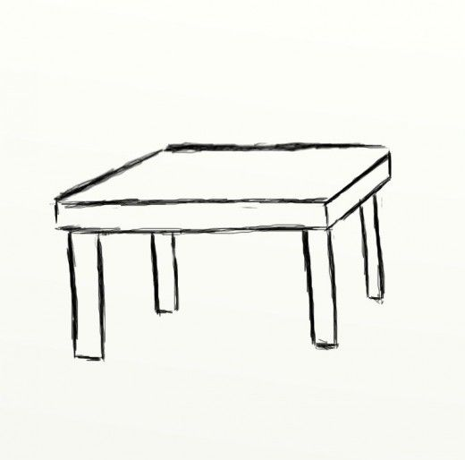 How To Draw A Table Feltmagnet In 2020 Table Sketch Table Cute Food Drawings