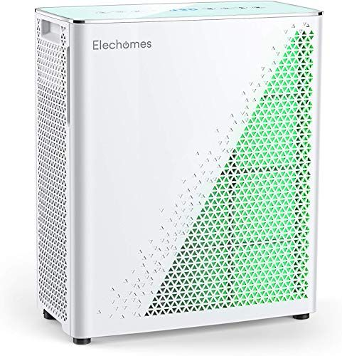 Enjoy Exclusive For Elechomes Air Purifier True Hepa Filter Air Quality Monitor Smell Sensors Air Cleaner Filter Large Room Home Office 350 Ft Smoker Pets U In 2020 Air Quality Monitor
