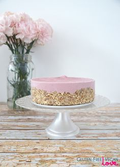 Glutenfrei Vegan Raw Strawberry Cheesecake {auch Paleo, raffiniertem Zucker-frei und SCD}