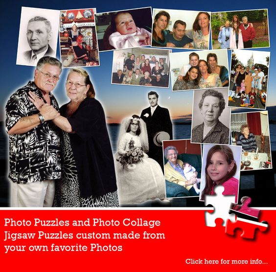 One year together or 50 years - a collage jigsaw puzzle is still a great gift to mark the occasion. From jigsaw2order.com #photo #collage #anniversary