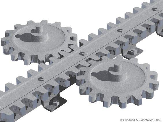 Cog Wheel Railway Rack Type Locher by Friedrich A. Lohmueller