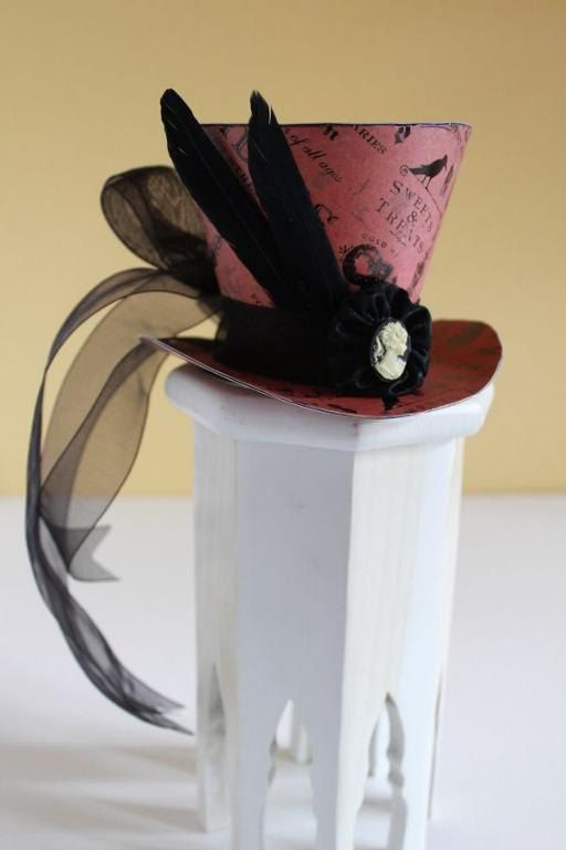 Mad Hatter Top Hat Fascinator Tutorial #steampunkhat
