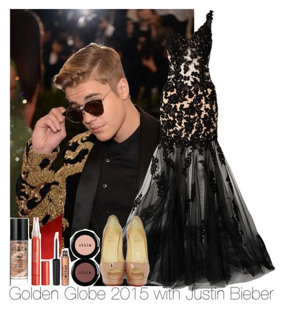 """""""Golden Globe 2015 with Justin Bieber"""" by irish26-1 ❤ liked on Polyvore featuring Justin Bieber, Forever Unique and Stila"""