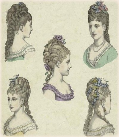 I feal that Lady Bracknell would wear her hair in the most intracet way possible to show her aestheticism.