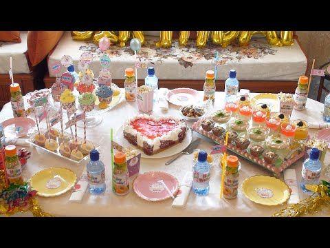 أفكار لتحضير وتزيين طاولة عيد ميلاد جميلة ووصفات ستسهل عليك الكثير Happy Birthday Youtube Table Decorations Decor Home Decor