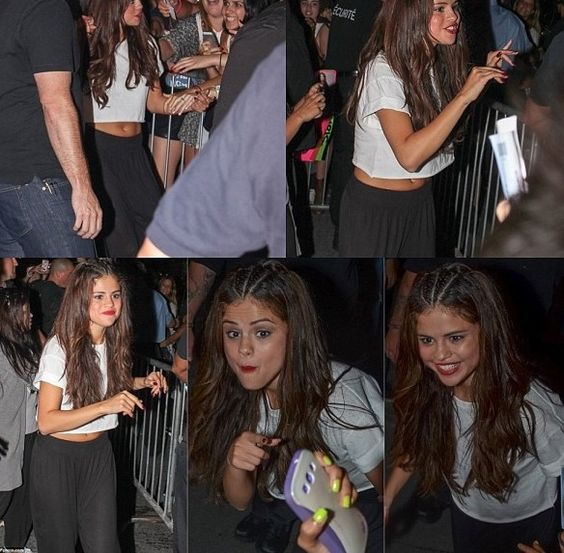 Selena Gomez at her meet and greet | Sel | Pinterest ...