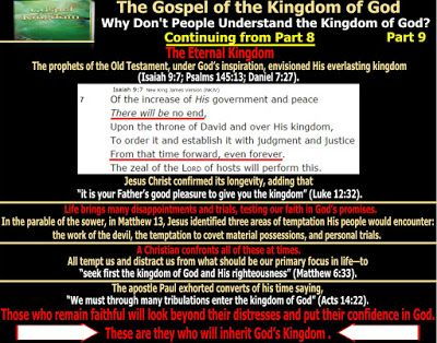 They follow the Lamb wherever he goes: The Gospel of the Kingdom - Why Don't…