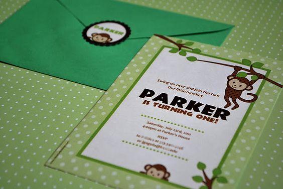monkey invitations!