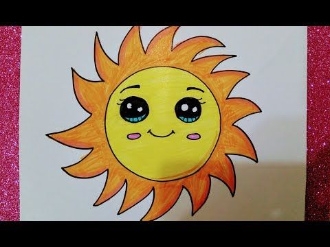تعليم رسم الشمس وتلوينها للاطفال والمبتدئين خطوة بخطوة How To Draw The Sun Youtube My Arts Art Greetings