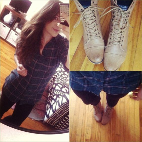 Plaid look for Autumn season. Comfy and... comfy!