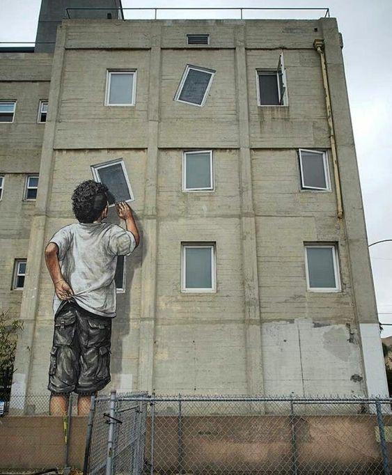 RT @GoogleStreetArt: New Street Art by Ernest Zacharevic found in Long Beach…