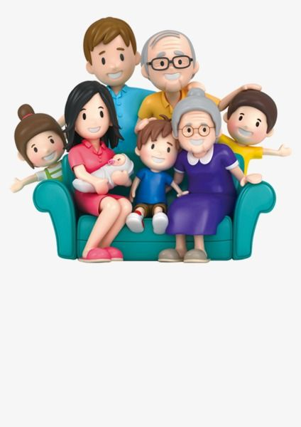 3d Cartoon Family Portrait Cartoon Clipart Family Clipart