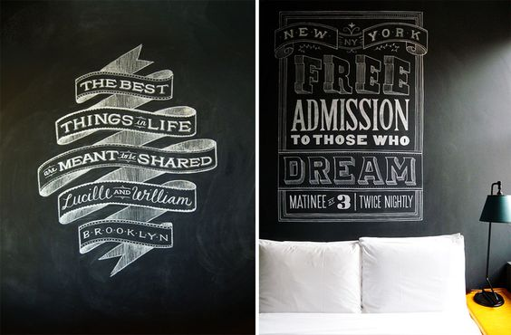 chalk lettering by Dana