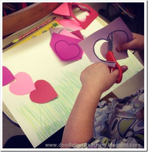 cute heart caterpillar craft for valentines day