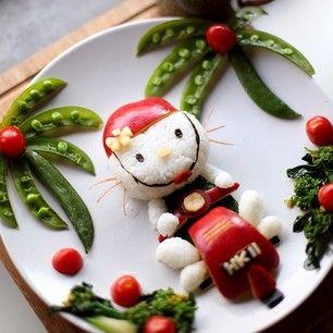 Un Bento de Hello Kitty en vacaciones.   25 comidas de Hello Kitty que son demasiado adorables para comer