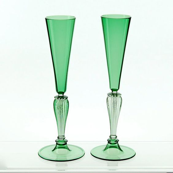 Shops hands and glasses on pinterest - Hand blown champagne flutes ...