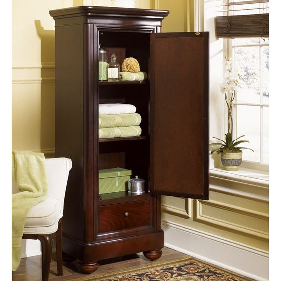 Have To Have It. Kaco Mount Vernon Linen Cabinet In Merlot $1063.95