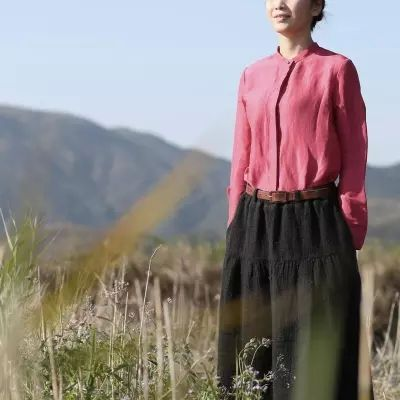 Women's Clothing, original design shirt,women's linen shirt,autumn and winter top, top shirt, linen shirt, basic shirt, long-sleeve shirt