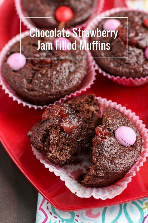 ... Jam Filled Muffins | Recipe | Chocolate Strawberries, Strawberry Jam