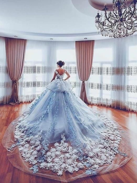 amazing me light blue wedding dresses