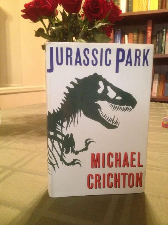 Jurassic Park Michael Crichton 1990 Hardcover (Not 1st But Early Edition) W/DJ