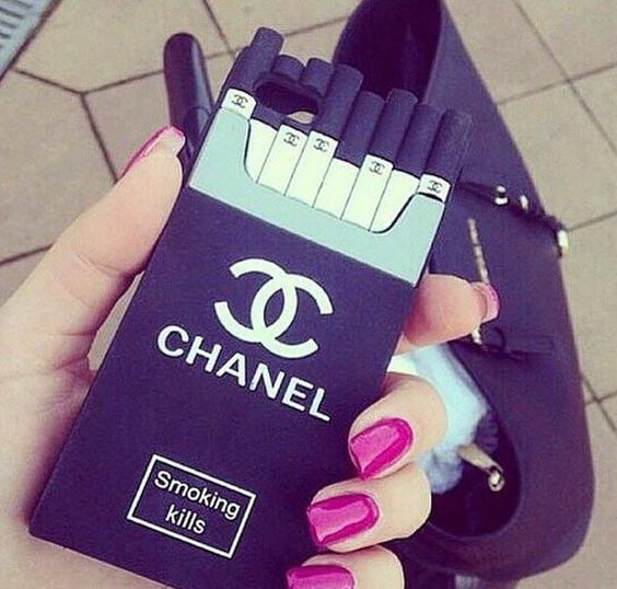 Stylish Chanel Smoking Kills Cigarette Box iPhone 6/6 Plus iPhone 5/5S iPhone 4/4S Samsung Galaxy Note 2/3/4, Samsung Galaxy S5/S6 Silicone Case