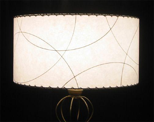 Mid-century modern drum lampshade