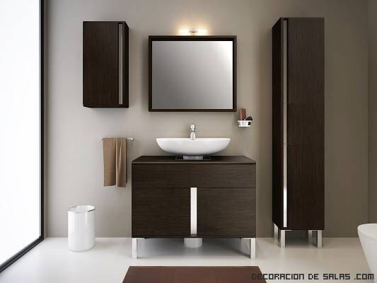 Mueble lavabo moderno decoraci n ba o peque o pinterest for Bano pequeno moderno