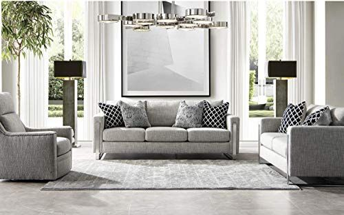 Beautiful Acanva Luxury Contemporary Down Filled Living Room Sofa Set 3 Piece Heather Grey Liv In 2020 Modern Grey Living Room Living Room Grey Grey Sofa Living Room