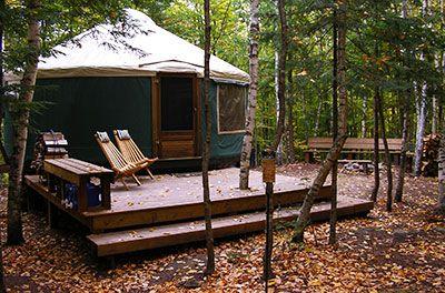 Brownfield, ME Yurts