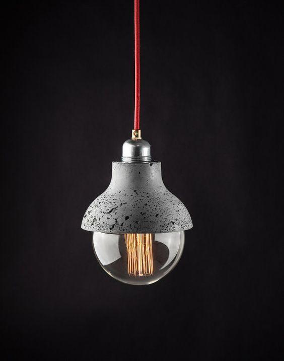 M422 Lámpara Colgante De Hormigón Ligero Por ConcreteLamps En Etsy    Muebles   Pinterest   Concrete, Pendant Lamps And Pendants