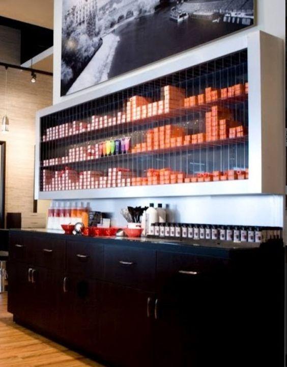 Perfect love this for a dispensary hair salon pinterest love this bar and storage shelves - Bar salon design ...
