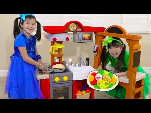Jannie Emma Pretend Play W Kitchen Restaurant Cooking Kids Toys Youtube Cooking With Kids Kids Toys Cooking Toys