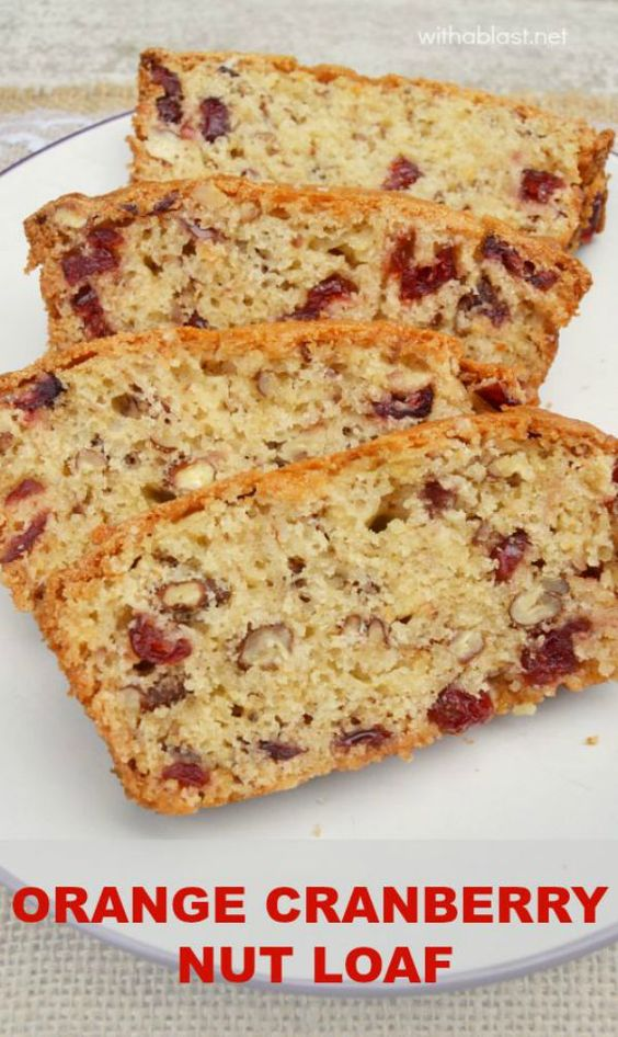 This soft, slightly moist Orange Cranberry Nut Loaf is mixed and baked ...