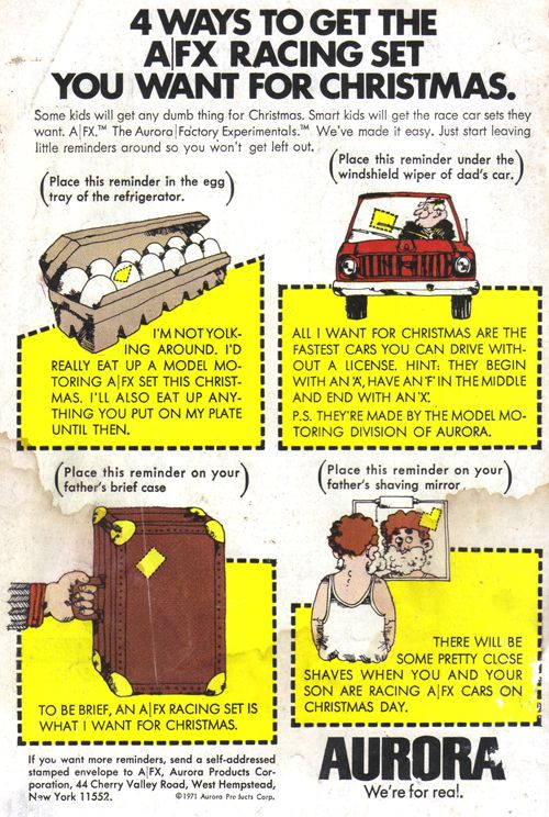 4 Ways to Get the AFX Racing Set You Want for Christmas  Source: From Beyond the Unknown #20, December 1972-January 1973