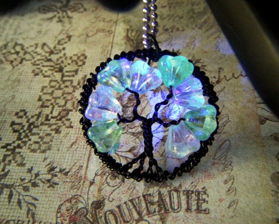Petite Glow in the Dark Tree of Life by CandiSuesCreations on Etsy, $30.00