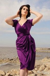 Ava Robe à Plum Size XL