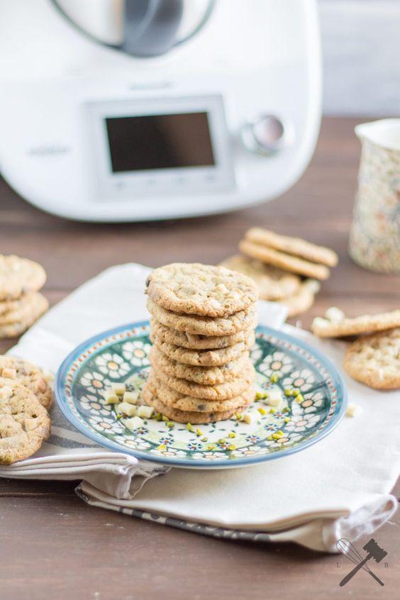Cookies mit (weißer) Schokolade und Pistazien [Werbung]
