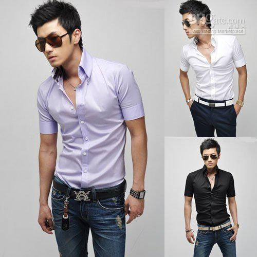 Fitted Shirts For Men Best cheap mens shirts men fitted shirt men leisure shirt