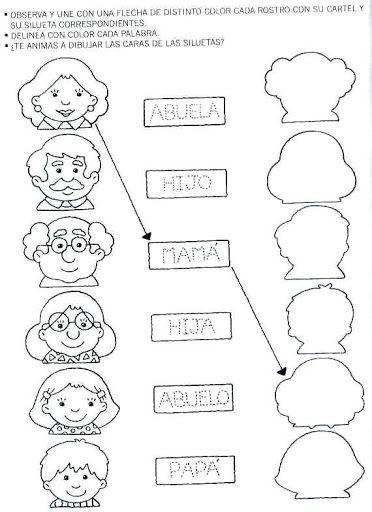 Dibujo De Valores Para Preescolar Familia