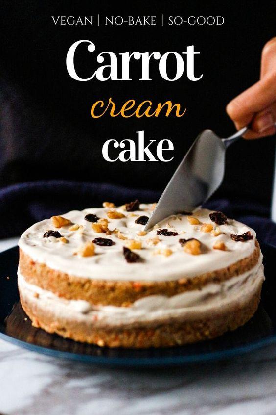 No-Bake Vegan Carrot Cake