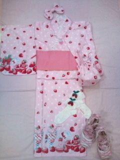 Milky Berry Yukata Set